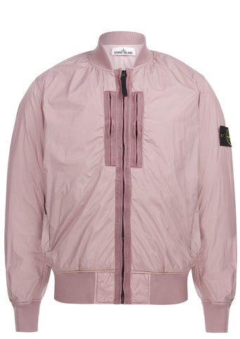 SS17 Garment Dyed Crinkle Reps Ny Bomber Jacket in Pink