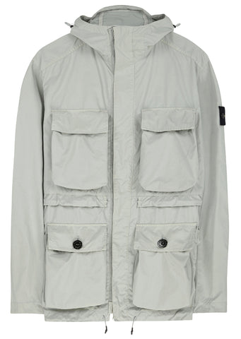 SS17 David Tela Light-TC Parka in Pearl Grey