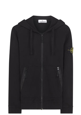 SS17 Hooded Full Zip Sweatshirt in Black