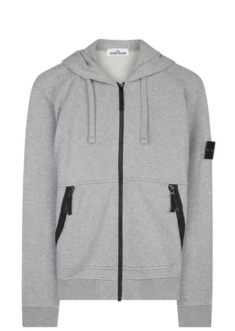 SS17 Hooded Full Zip Sweatshirt in Dusty Grey