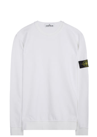 SS17 Brushed Cotton Fleece Crewneck Sweatshirt in White