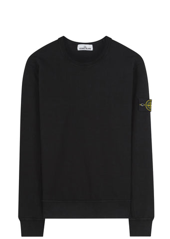 SS17 Garment Dyed Crewneck Sweatshirt in Black