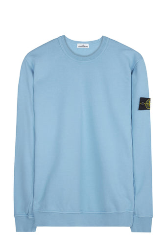 SS17 Garment Dyed Crewneck Sweatshirt in Sky Blue