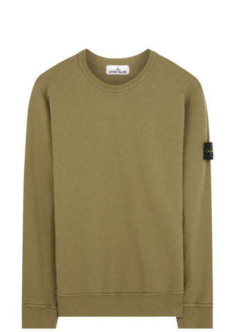 SS17 Garment Dyed Crewneck Sweatshirt in Khaki