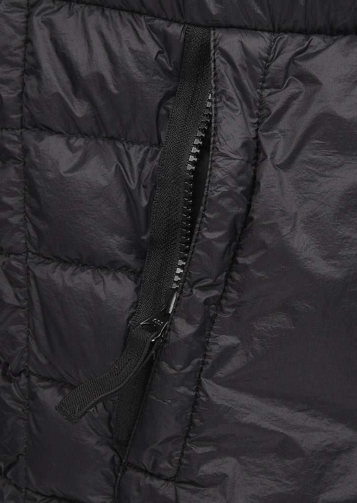 SS17 Garment Dyed Micro Yarn Down Jacket In Black
