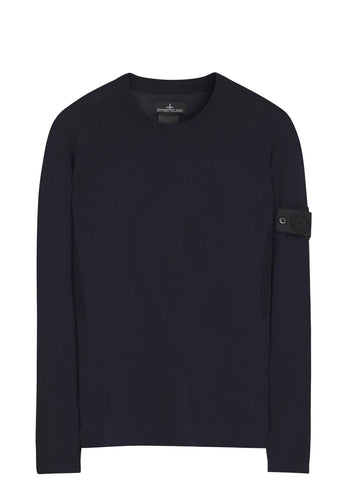 SS17 Cotton Knit Crewneck in Navy