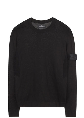 SS17 Cotton Knit Crewneck in Black