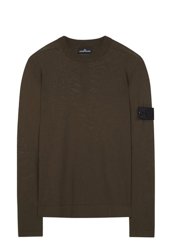 SS17 Cotton Knit Crewneck in Forrest