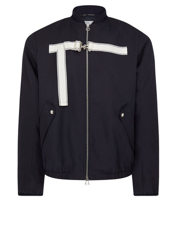 AW17 Strapped Bomber Jacket in Navy