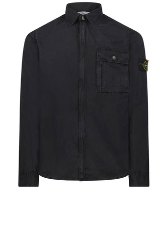 AW17 Old Effect Overshirt in Navy