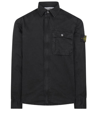 AW17 Old Effect Overshirt in Black