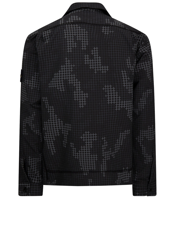 AW17 Rip Stop SI Check Grid Camo in Black