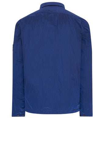 AW17 Nylon Metal Overshirt in Marine Blue