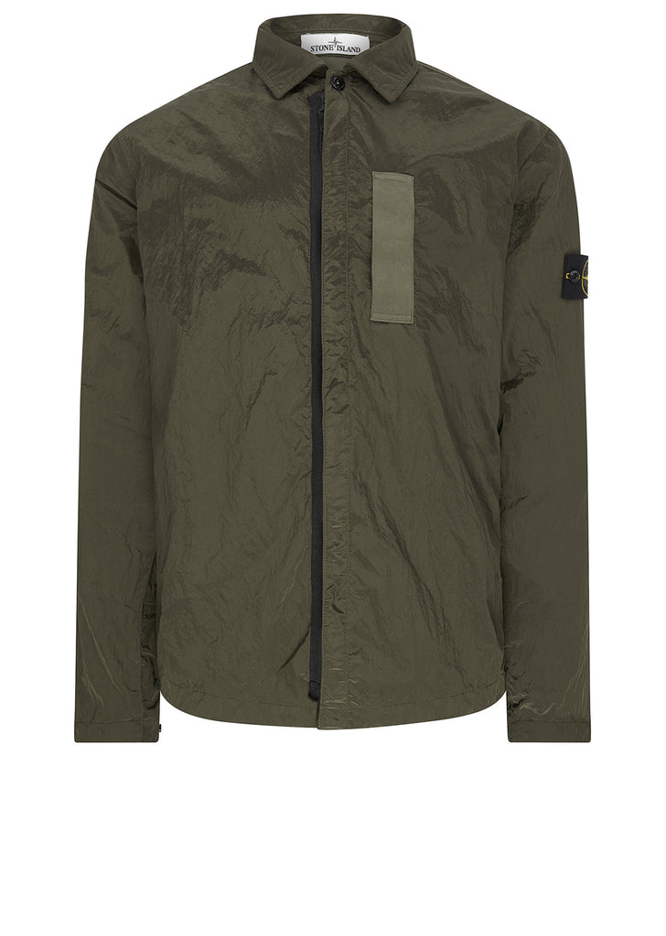AW17 Nylon Metal Overshirt in Khaki