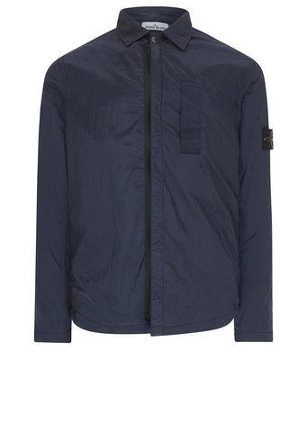 AW17 Nylon Metal Overshirt in Navy