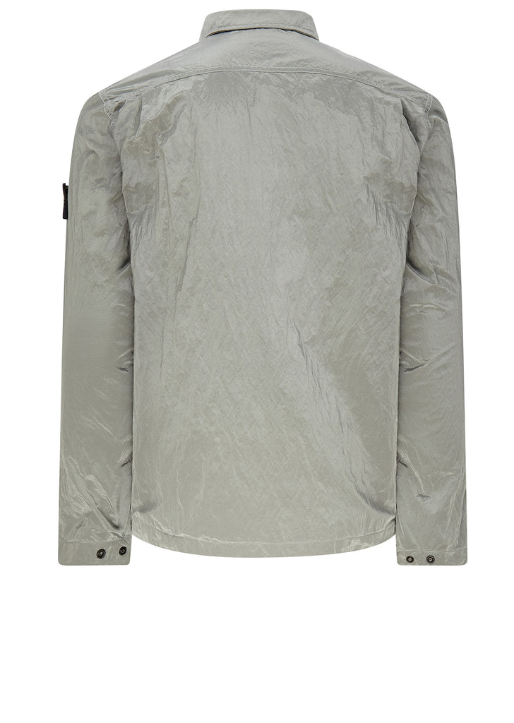 Nylon Metal Overshirt in Silver
