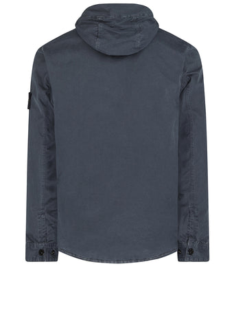 AW17 Old Effect Hooded Overshirt in Charcoal Grey