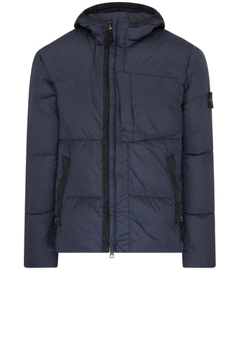 AW17 Garment Dyed Crinkle Reps Down Jacket in Navy