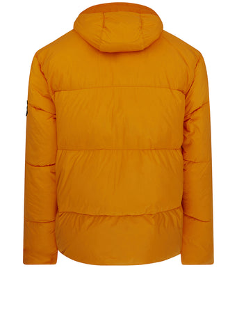 AW17 Garment Dyed Crinkle Reps Down Jacket in Orange
