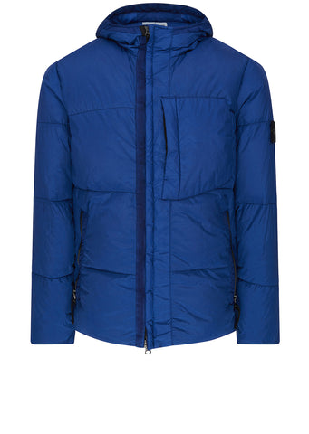 AW17 Garment Dyed Crinkle Reps Down Jacket in Marine Blue