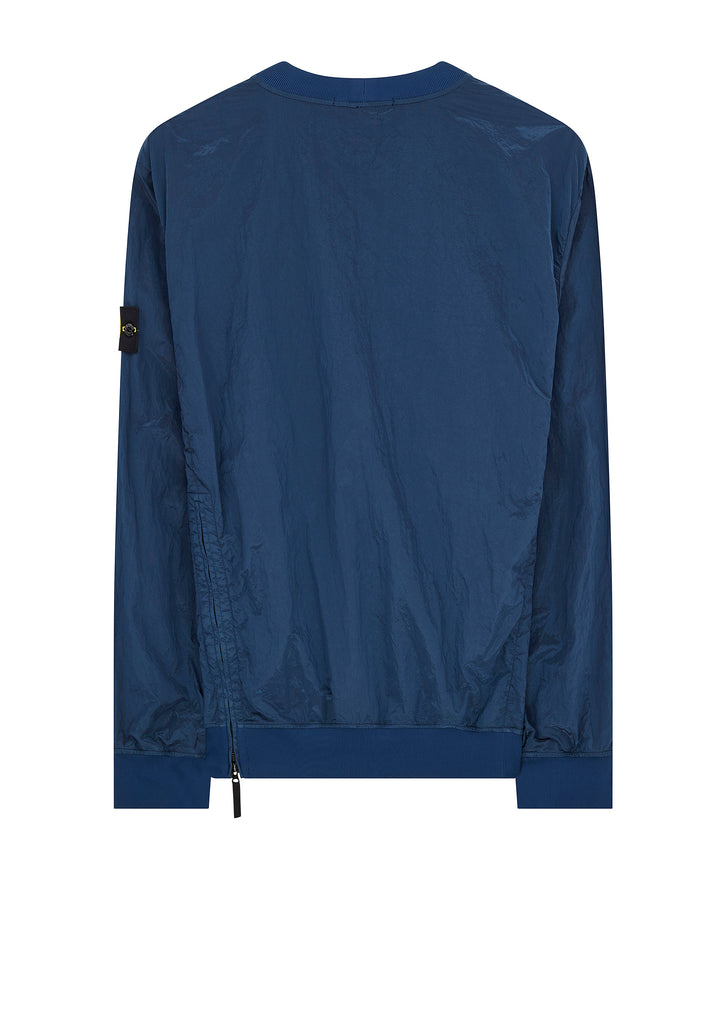 Nylon Metal Crew Neck in Marine Blue