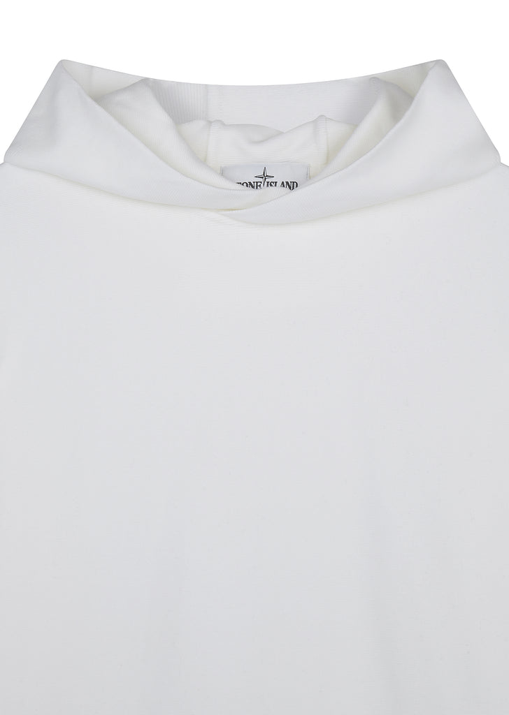 AW17 Hooded Cotton Sweatshirt in White