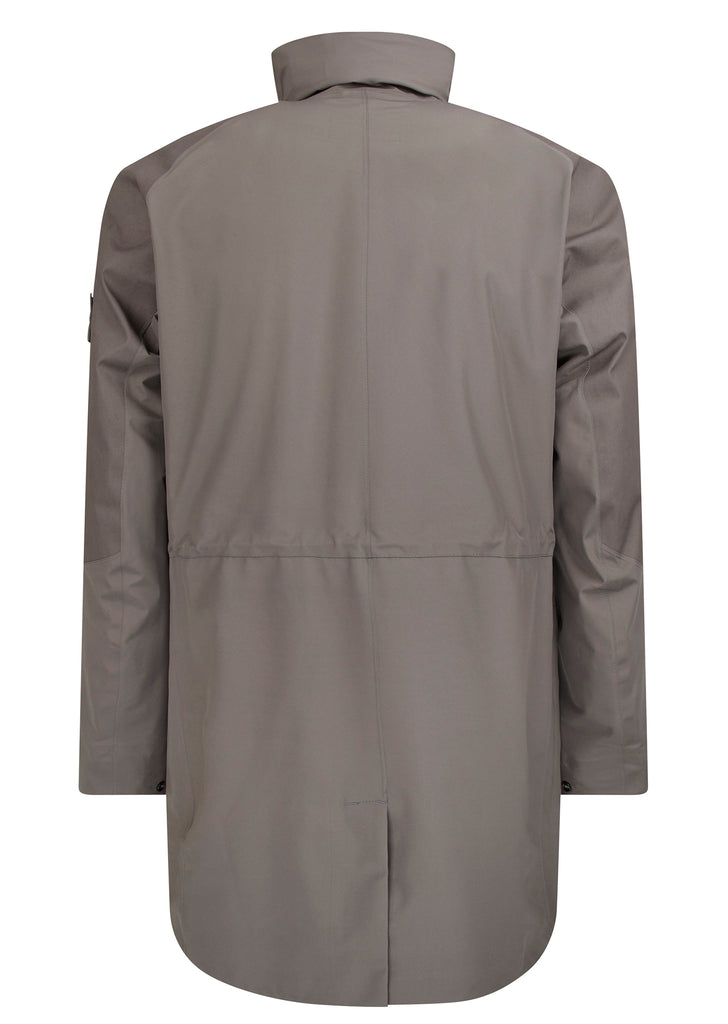 Ghost Piece Tank Shield Trench Coat in Grey