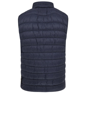 AW17 Micro Yarn Down Vest in Navy