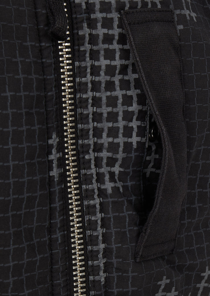 AW17 Check Grid Camo Jacket in Black