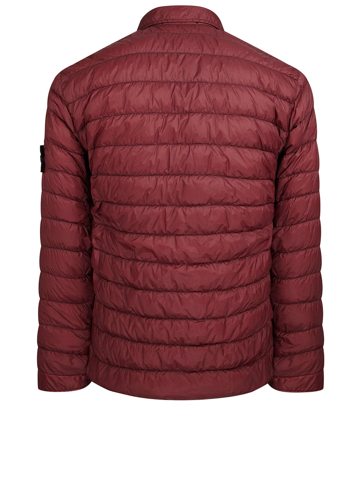 Garment Dyed Micro Yarn Down Jacket in Burgundy