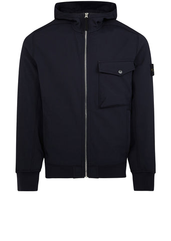 AW17 Soft Shell-R Hooded Jacket in Navy