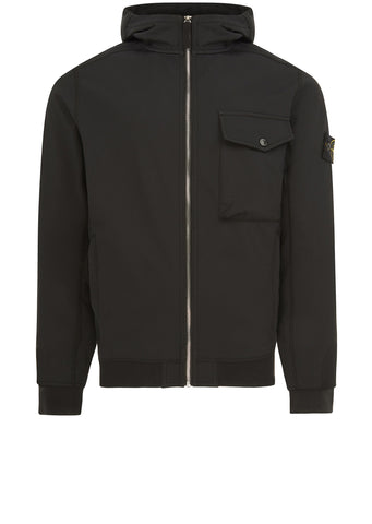 AW17 Soft Shell-R Hooded Jacket in Black