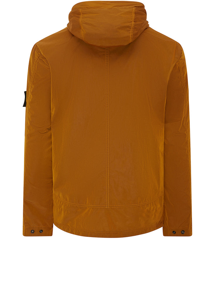 Nylon Metal Flock Jacket in Orange