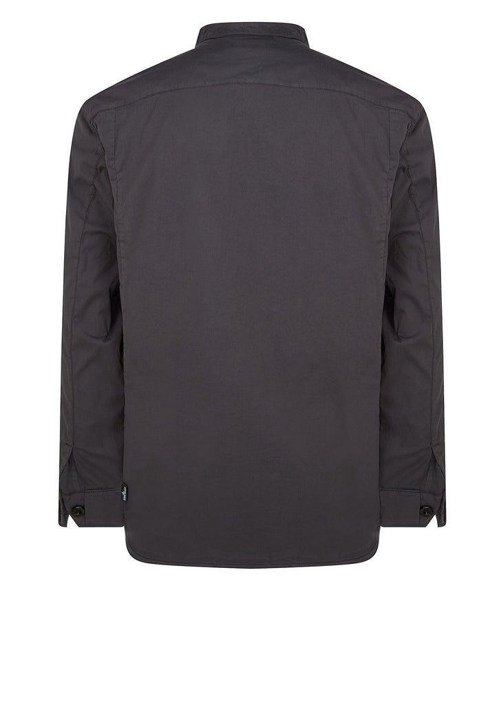 AW17 Collarless Shirt in Charcoal