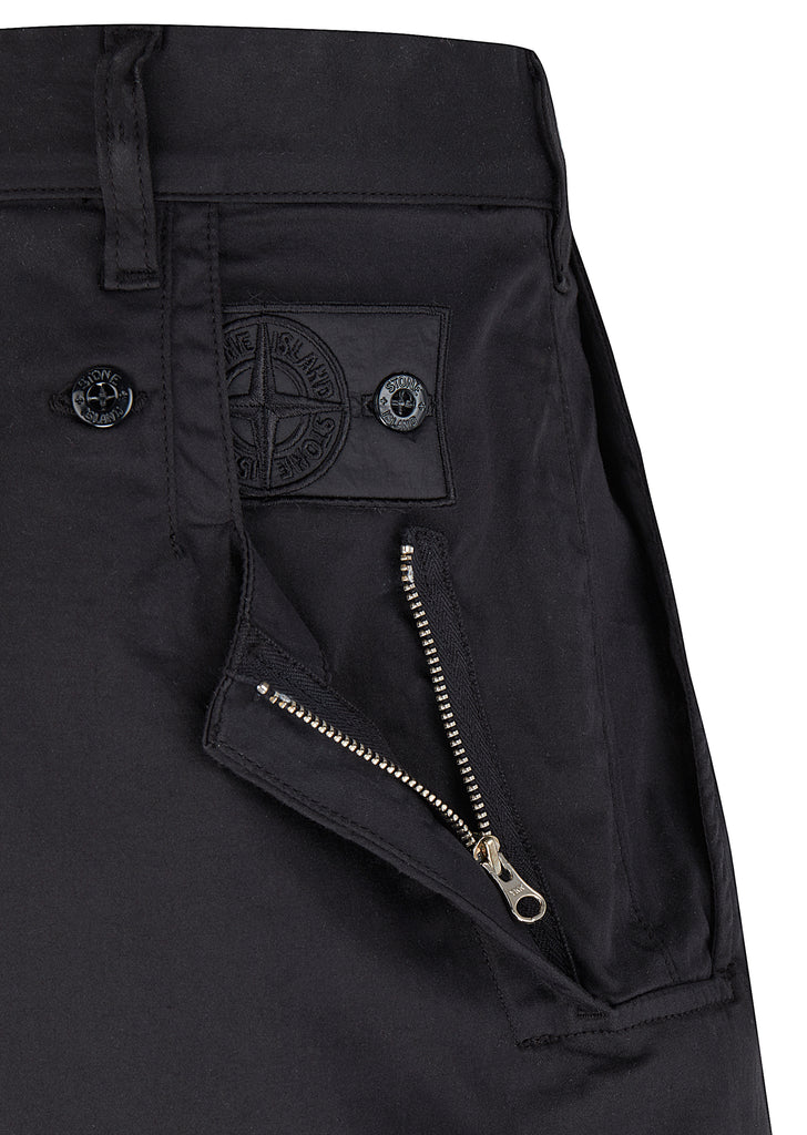 Adjustable Wide Pants with Articulation Tunnels in Black