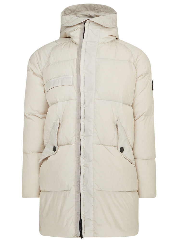AW17 Garment Dyed Down Jacket in Off White