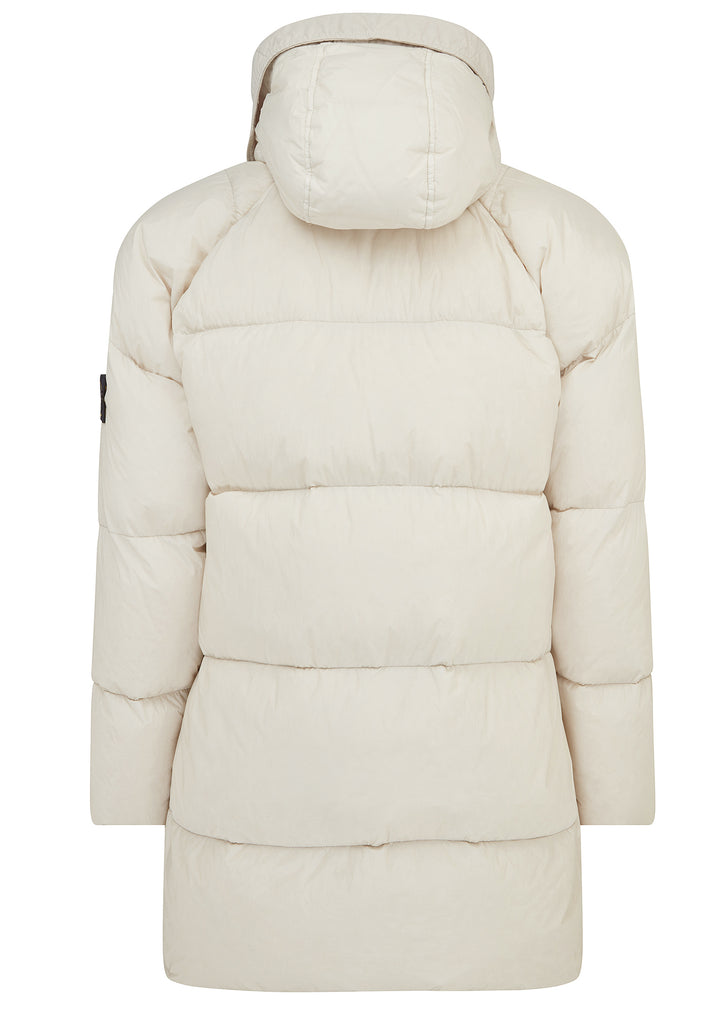 Garment Dyed Down Jacket in Off White