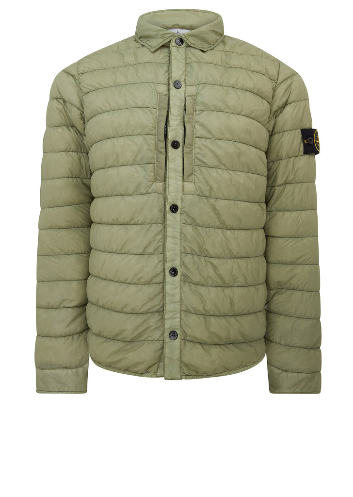Garment Dyed Micro Yarn Down Jacket in Sage