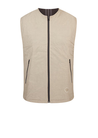 Wings + Horns Gilet in Light Brown / Utility Black