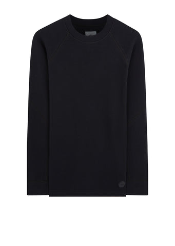 Wings + Horns Double Waffle Knit Crew in Black