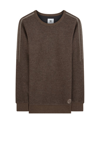 Wings + Horns Wool Crew in Simple Brown