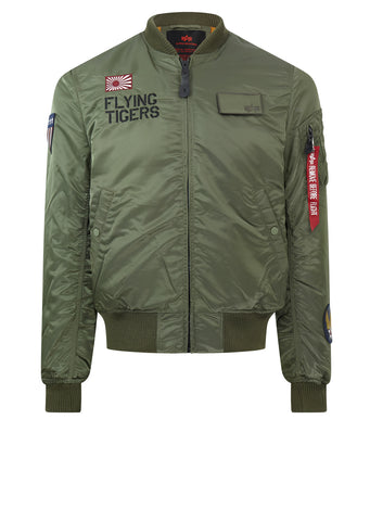 AW17 MA-1 Vf Flying Tigers Jacket in Green