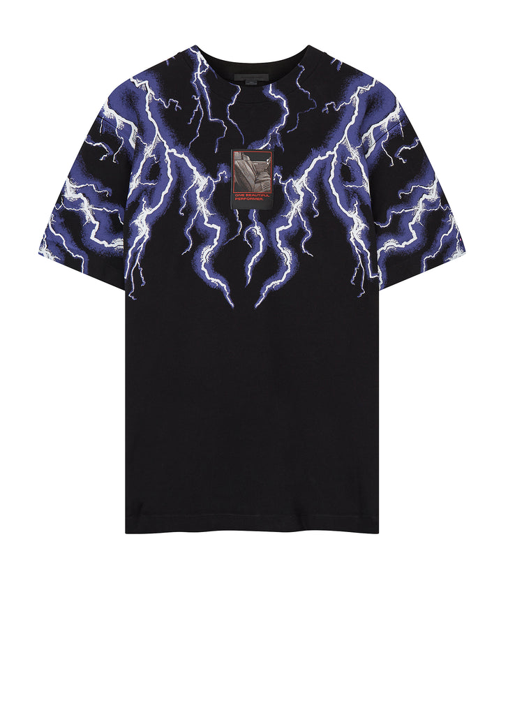 Lightning Collage Tee in Black