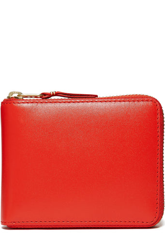 Classic Zip-Around Wallet in Orange