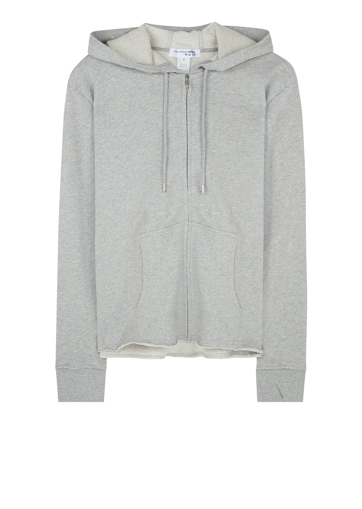 Shirt Boys Logo Zip Hoody in Grey