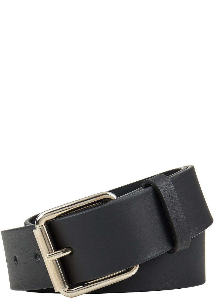 AW17 Shirt Cowhide Leather Belt in Black