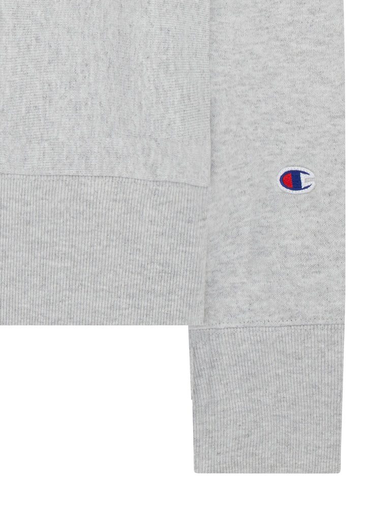 Classic Applique Crewneck Sweat in Grey