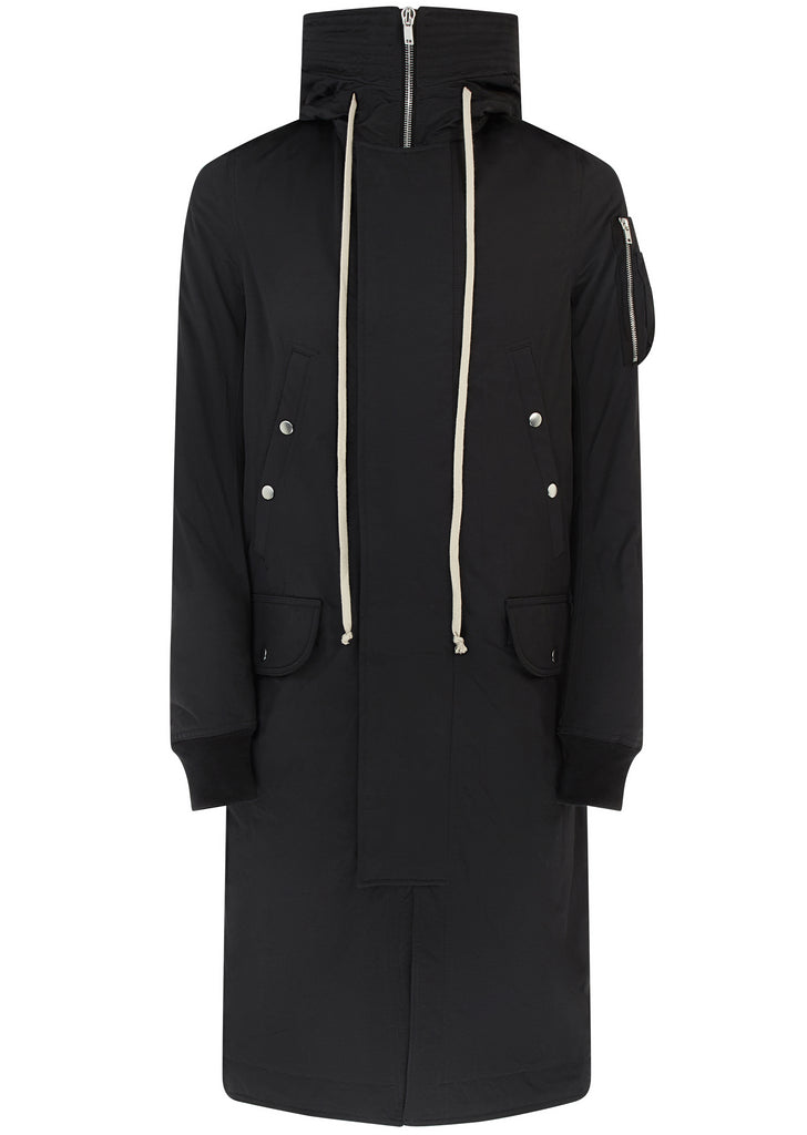 AW17 Hooded Long Parka in Black
