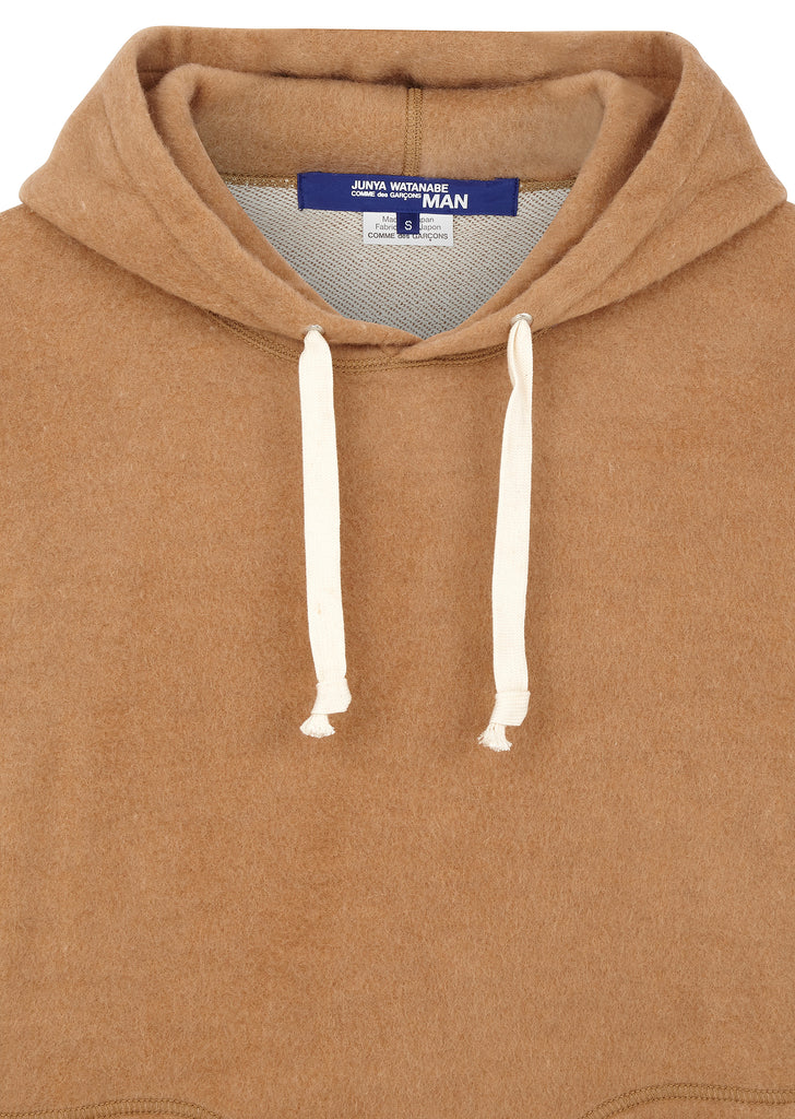 MAN Camel Blend Hooded Sweater in Brown