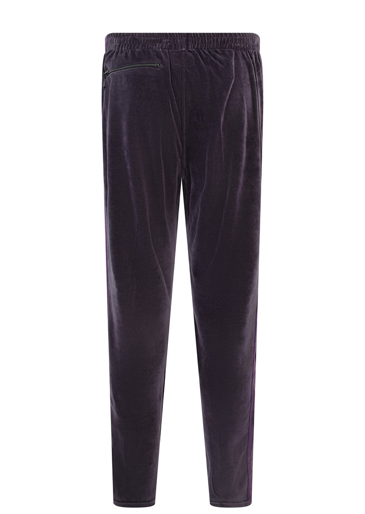 AW17 Narrow Velour Track Pant in Charcoal